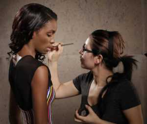 Madrid España Escolar artista de maquillaje